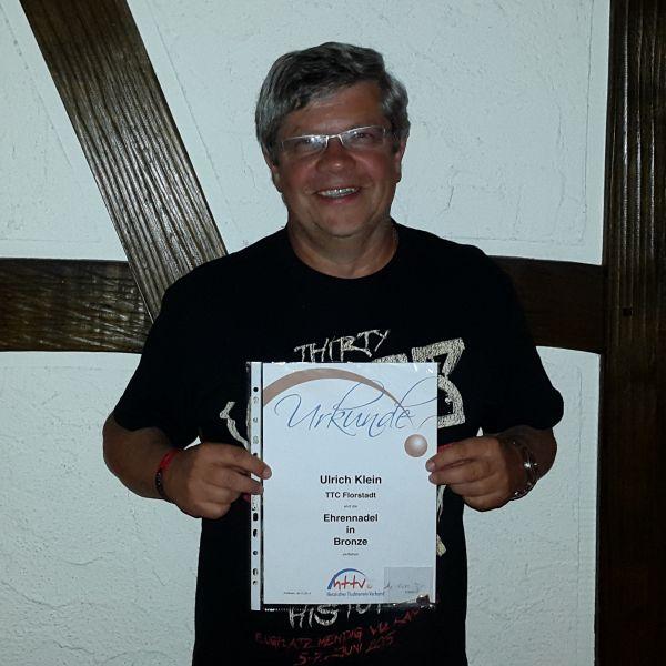 Uli Klein 25 Jahre im Vorstand