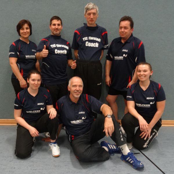 Das Trainerteam des TTC Florstadt