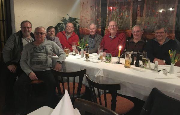 Teilnehmer am Seniorenstammtisch des TTC Florstadt